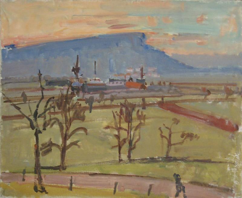 Landschaft bei Schloss Hegi, um 1948