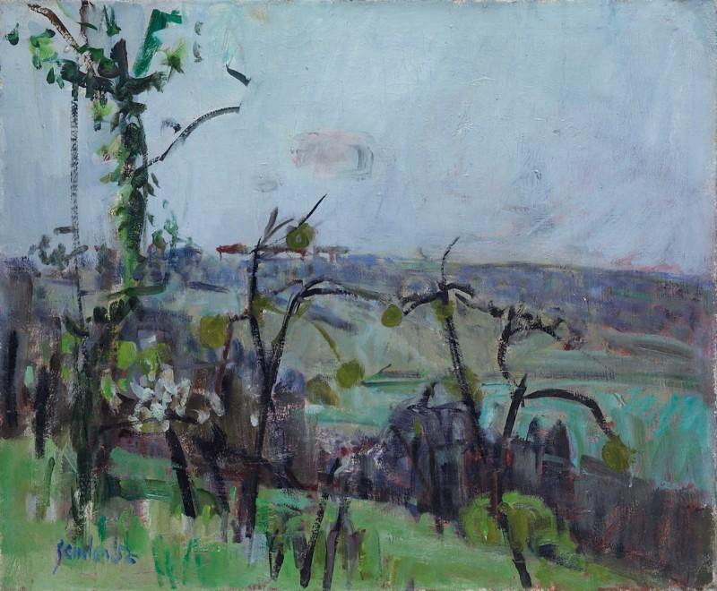 Le jardin de Mitheuil, mit Blick auf die Ebene von Coutommiers, 1952