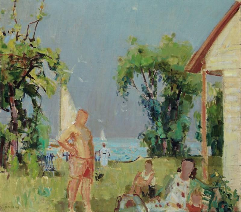 Am See, Studie zu einem Familienbild, 1949