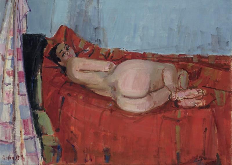 Rückenakt, 1958