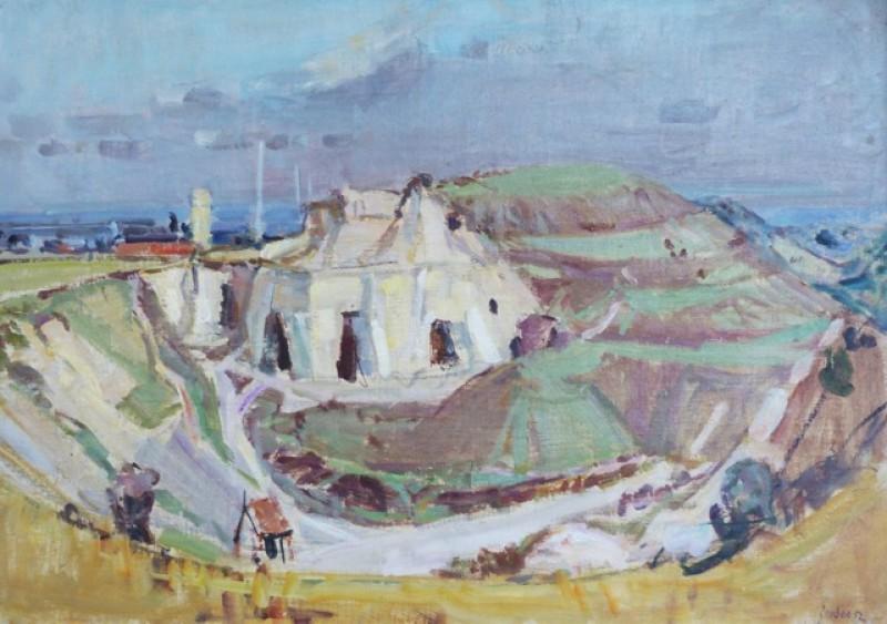 Industrielandschaft, Frankreich 1952