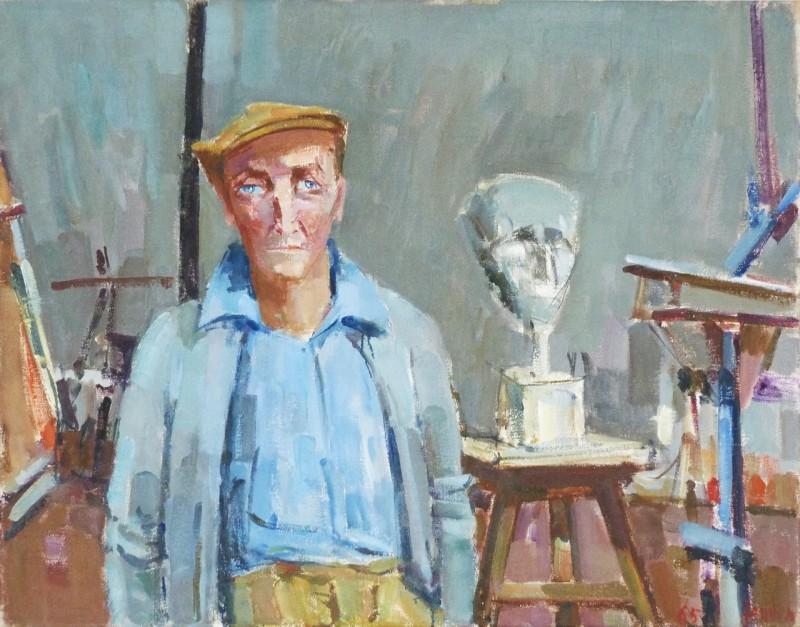 Emilio Stanzani im Atelier, 1965