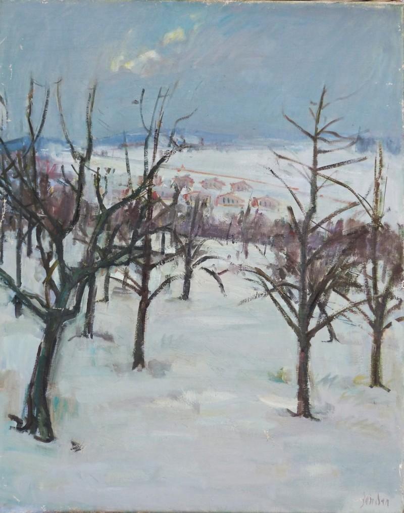 Schnee, Landschaft bei Oberwinterthur