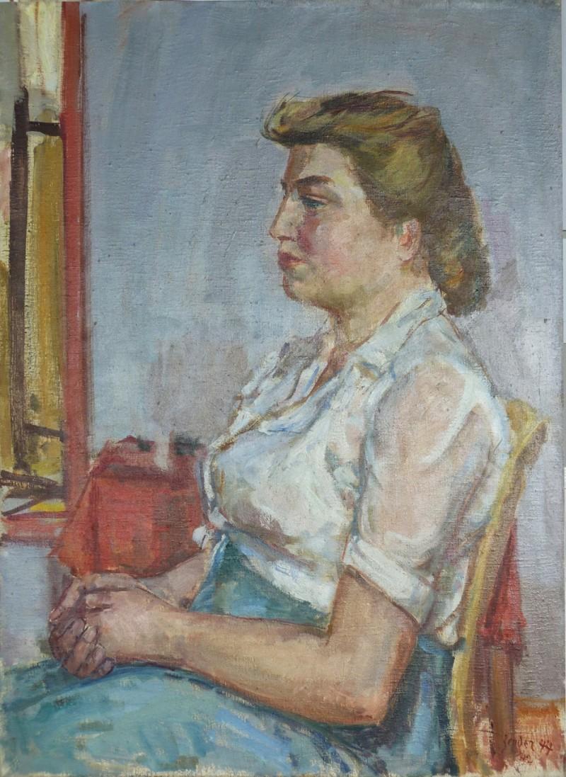 Jeune fille blonde, 1947