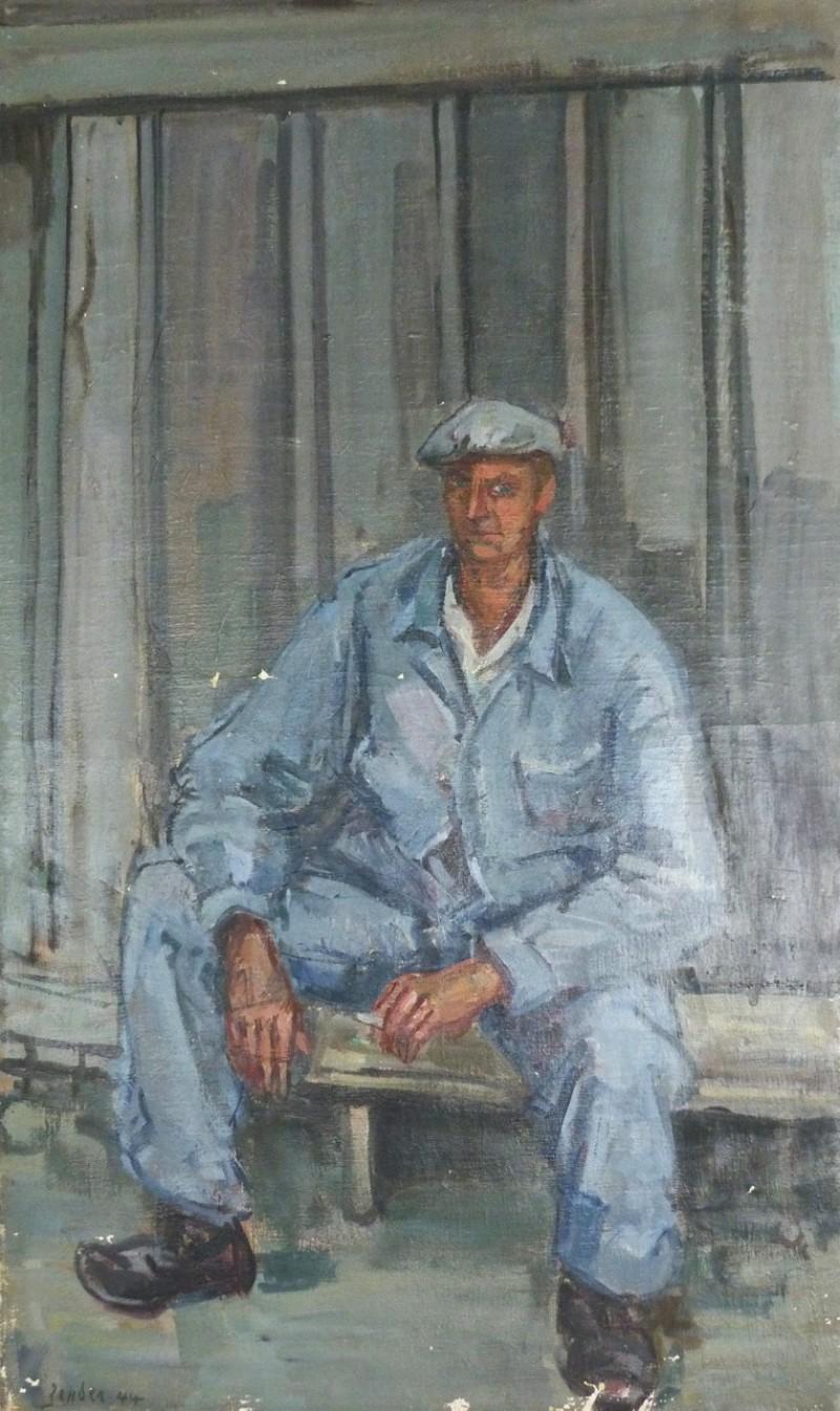 L'ouvrier en bleu, 1944