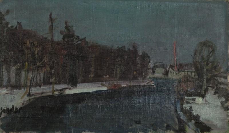 La Töss en hiver, um 1942