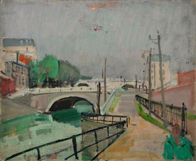 Canal de l'Ourqu, Paris, ca