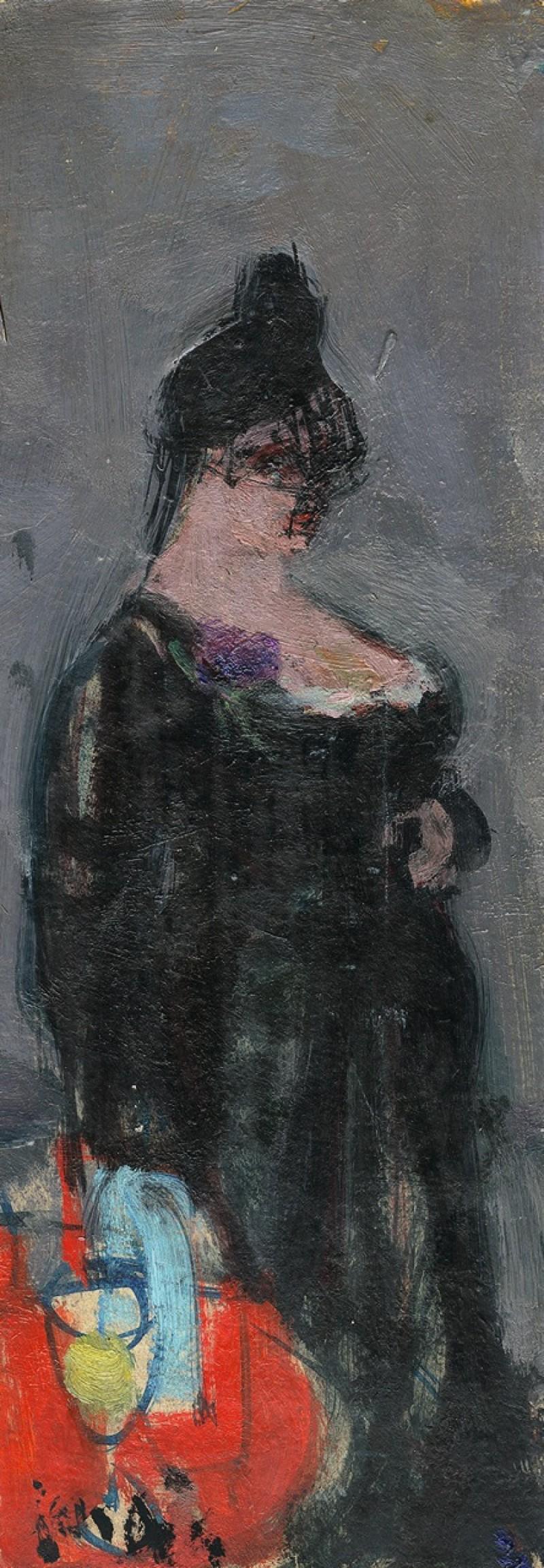La promeneuse, Frauenporträt