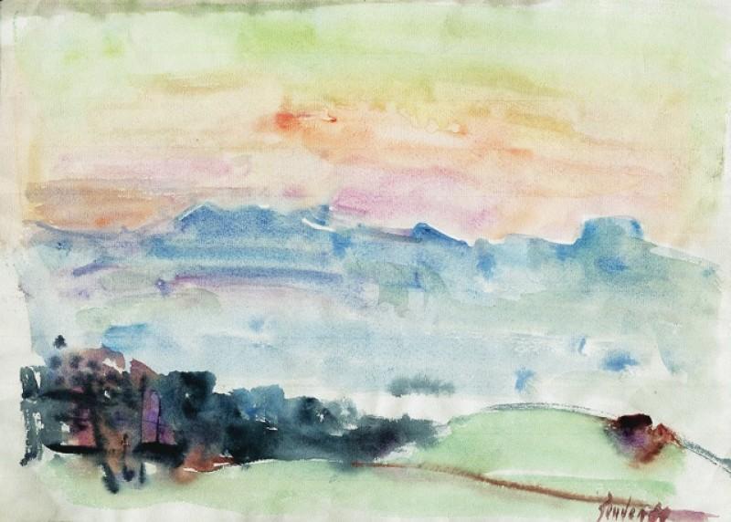 Landschaft, Abendstimmung, 1986