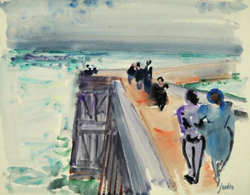 Studie Spaziergang auf der Hafenmole
