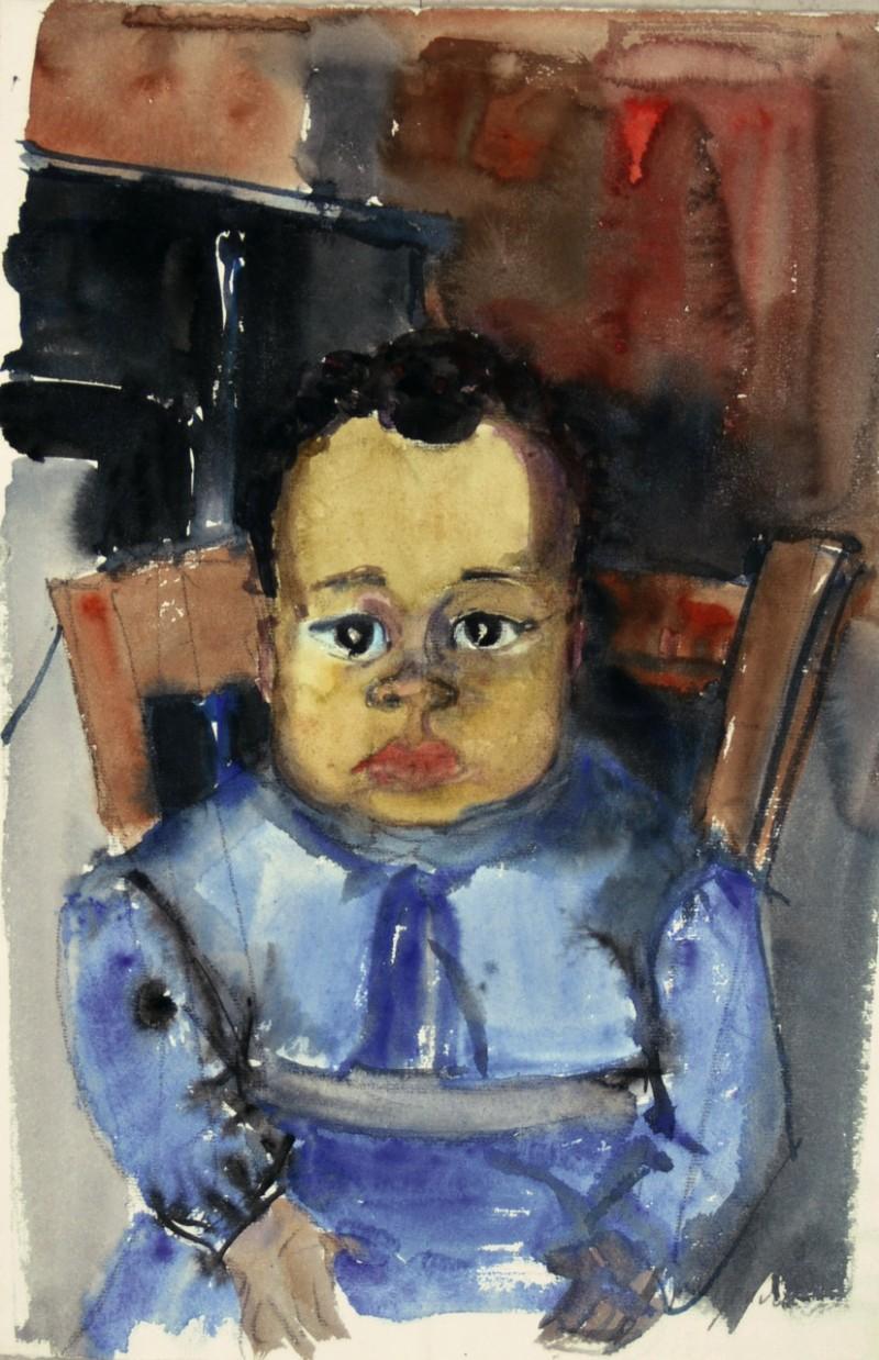 Porträt kleiner schwarzer Junge
