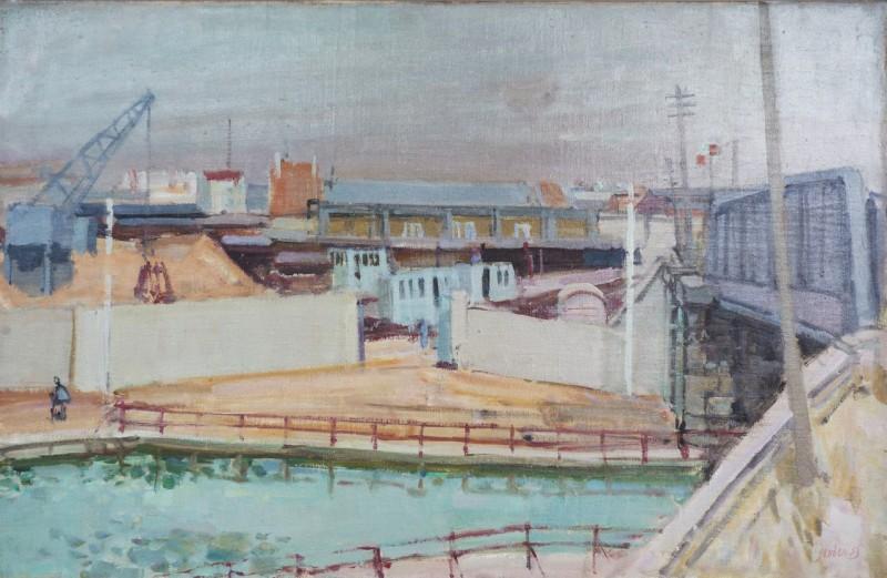 Au bord du canal, 1953