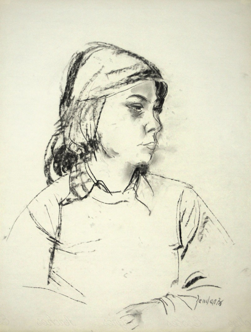 Mädchenporträt im Profil, 1976
