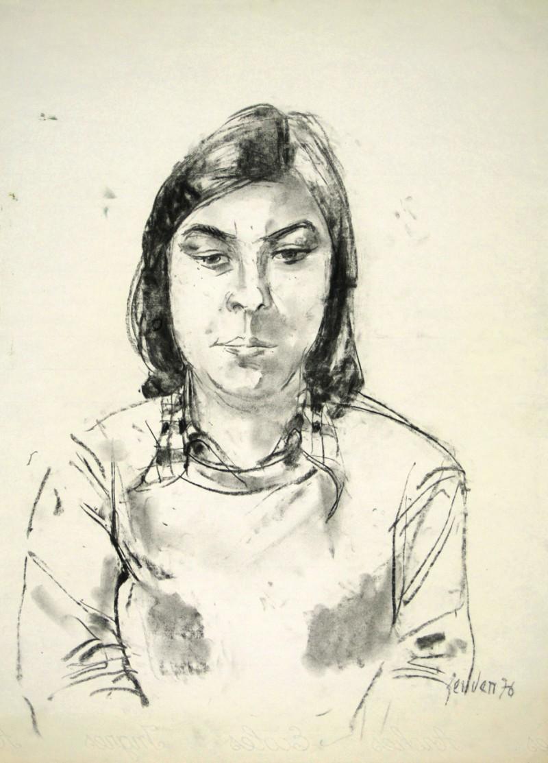 Porträt einer jungen Frau, 1976