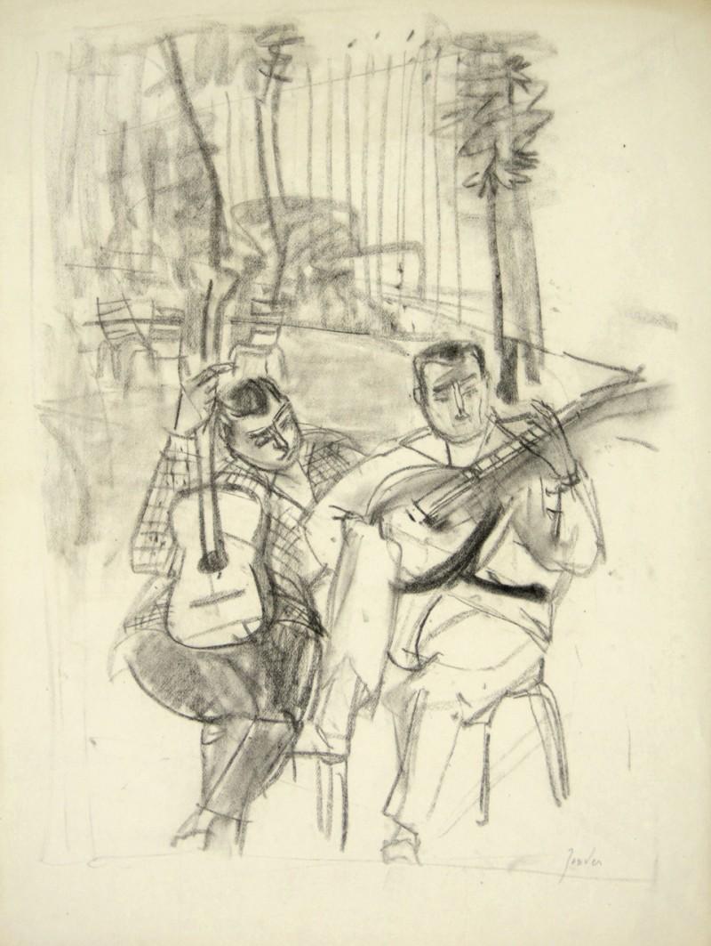 Zwei Strassenmusikanten