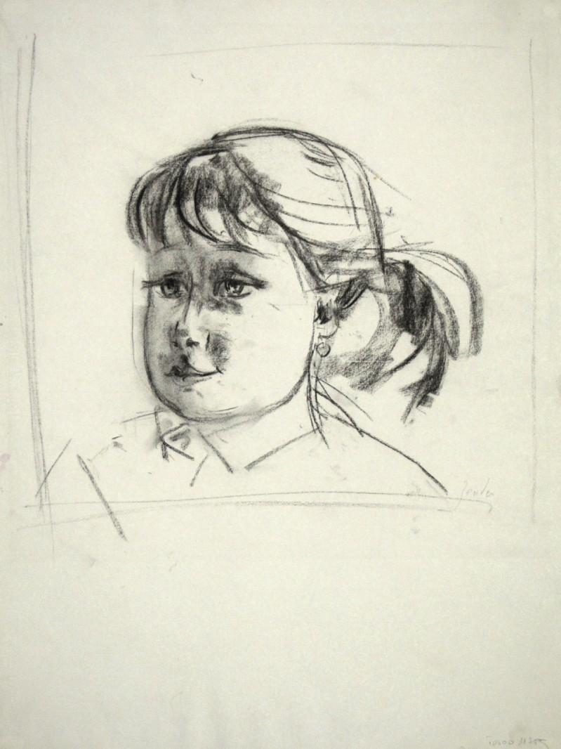 Portrait eines Mädchen mit Pferdeschwanz
