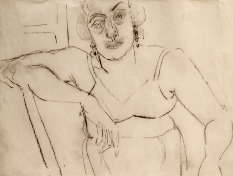 Porträt sitzender Frau