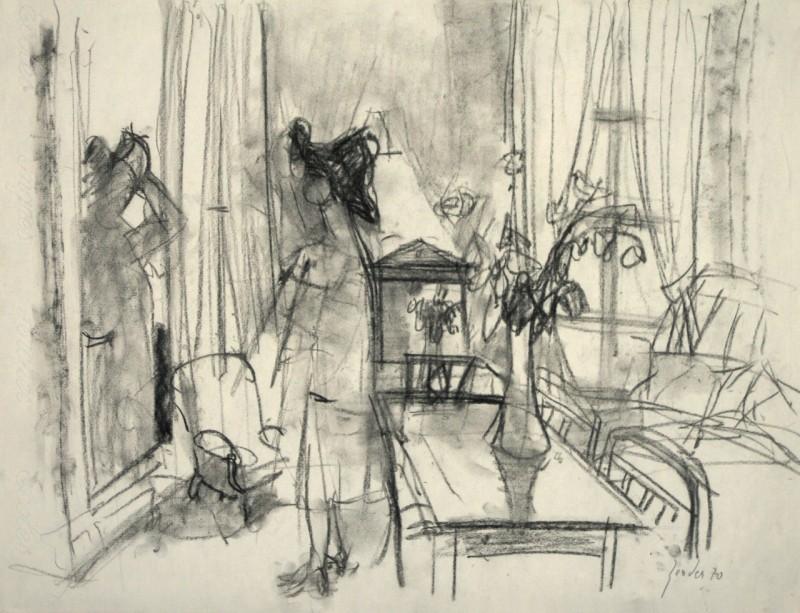 Hutanprobe im Salon, 1970