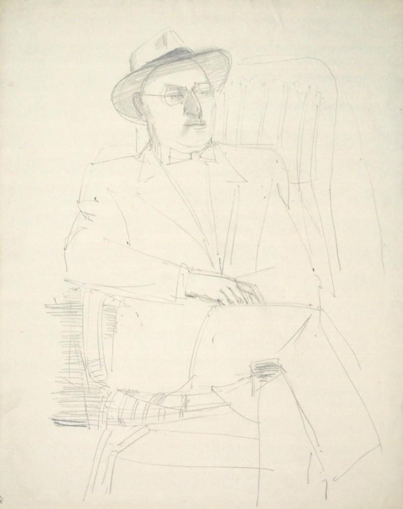Porträt eines sitzenden Herren