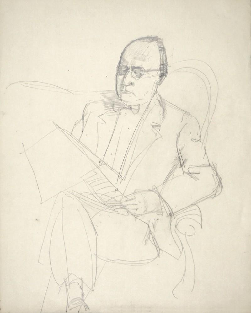 Porträt eines sitzendes Mannes