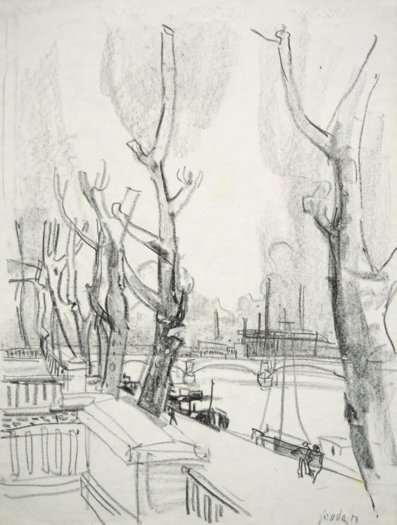 Platanenallee an der Seine