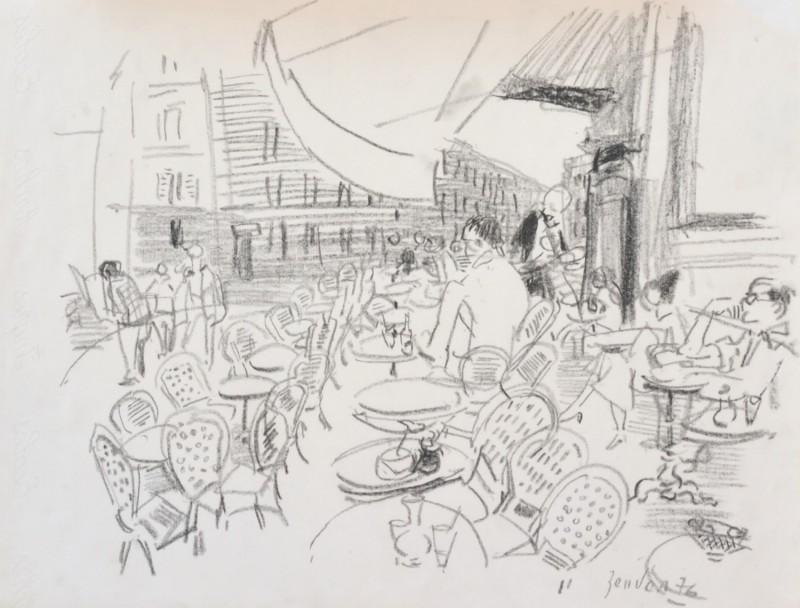 Im Strassencafé, 1976