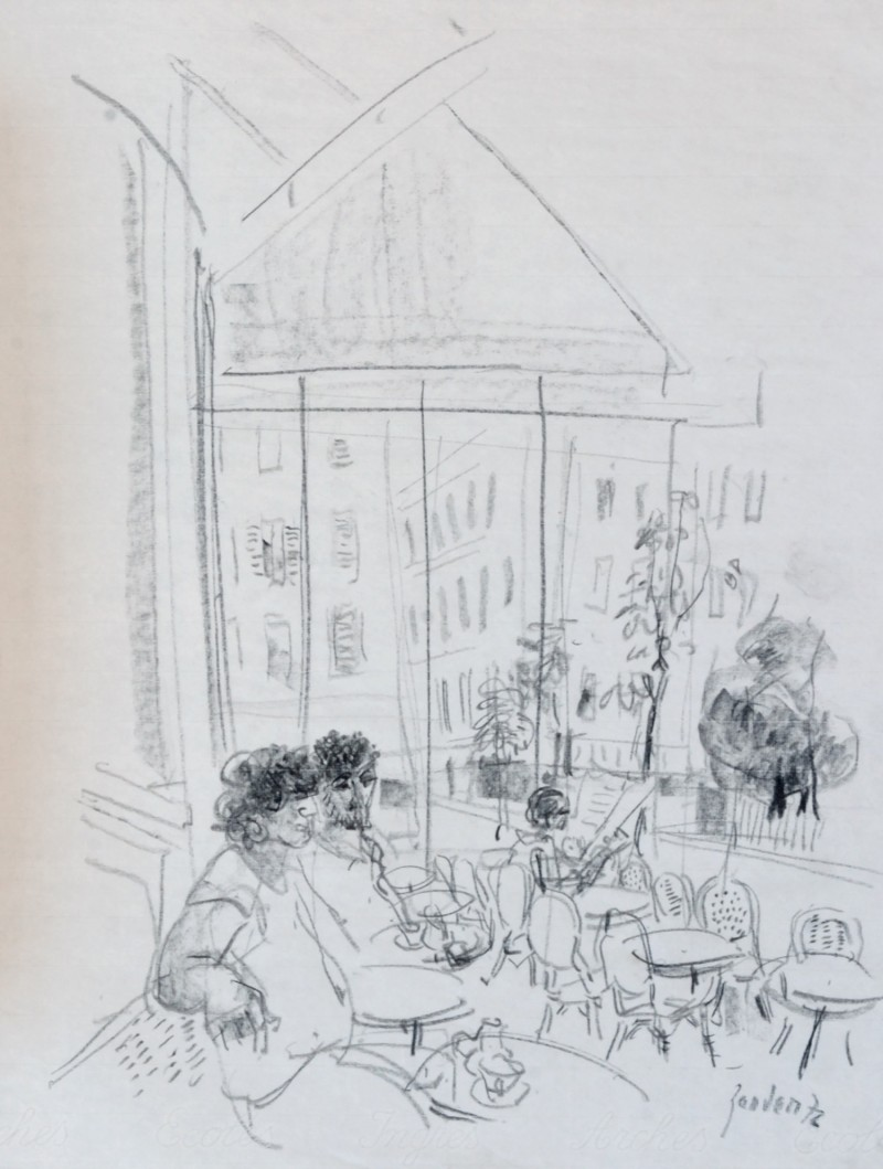 Im Strassencafé, 1972