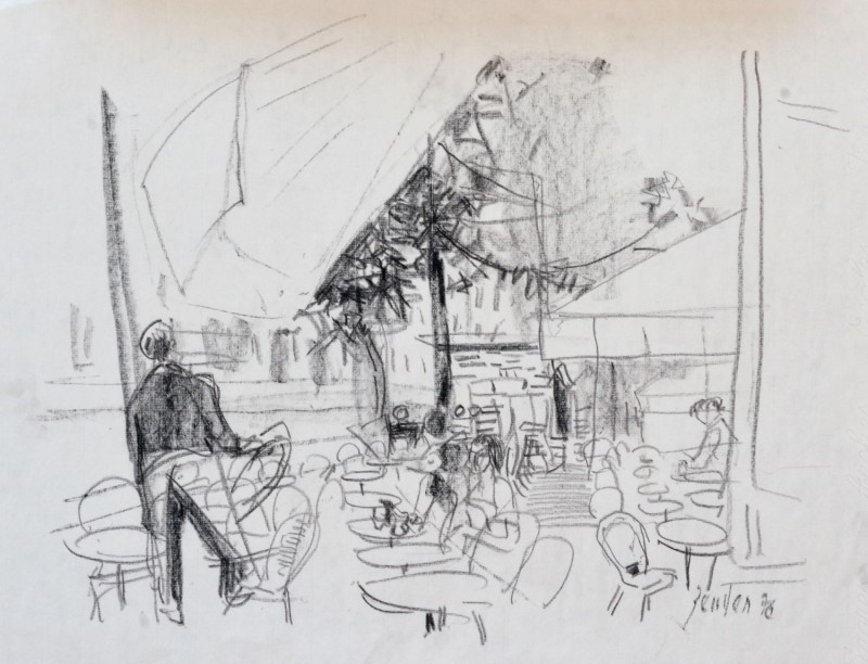 Szene im Strassencafé, 1976