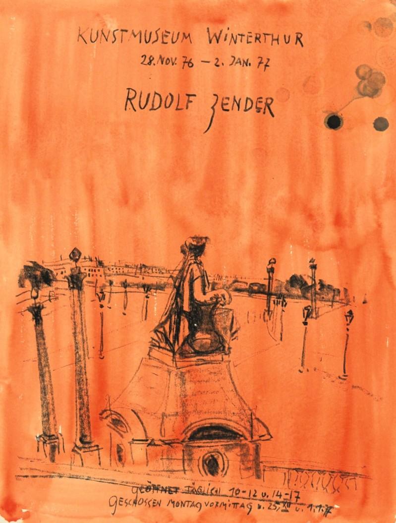 Plakat für Kunstmuseum Winterthur, Ausstellung Rudolf Zender, 28