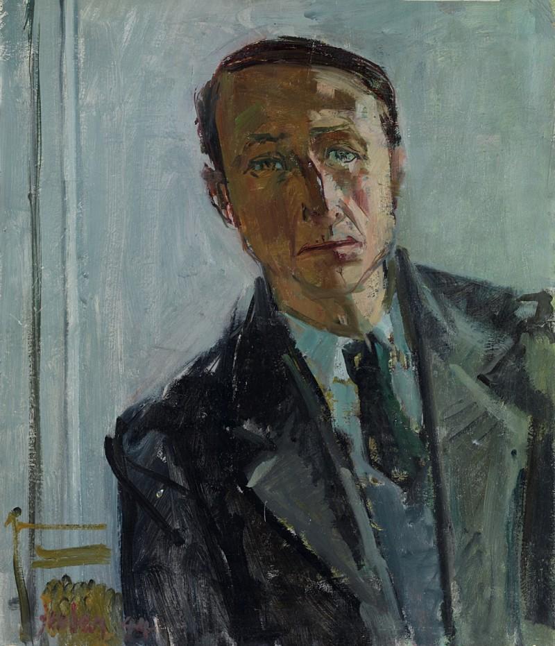 Selbstporträt mit Krawatte, 1944
