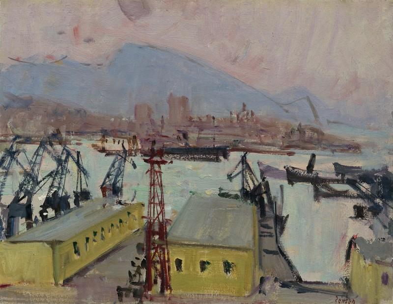 Hafen von Genua, um 1950