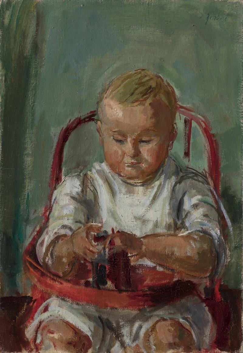 Jean-Claude Zehnder auf Kindersitz, ca