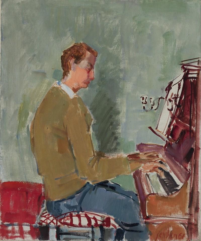 Jean-Claude Zehnder am Klavier, 1961