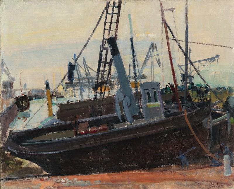 Les chalutiers au port, Dieppe ca