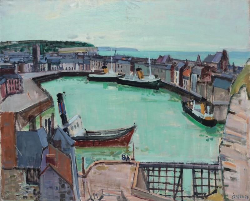 Le bassin de Dieppe 1955