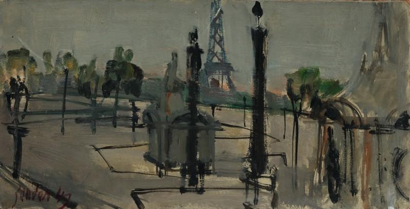 Menschenleerer Platz, Paris 1949