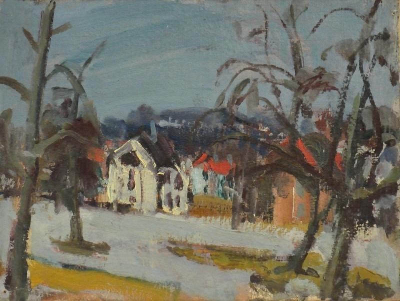 Landschaft, verso Akt, vor 1950