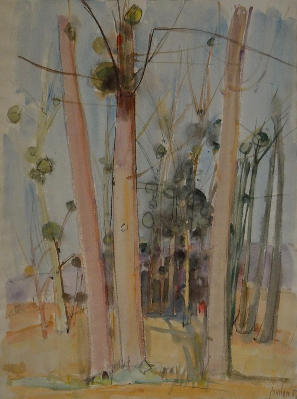 Bäume mit Misteln, 1957