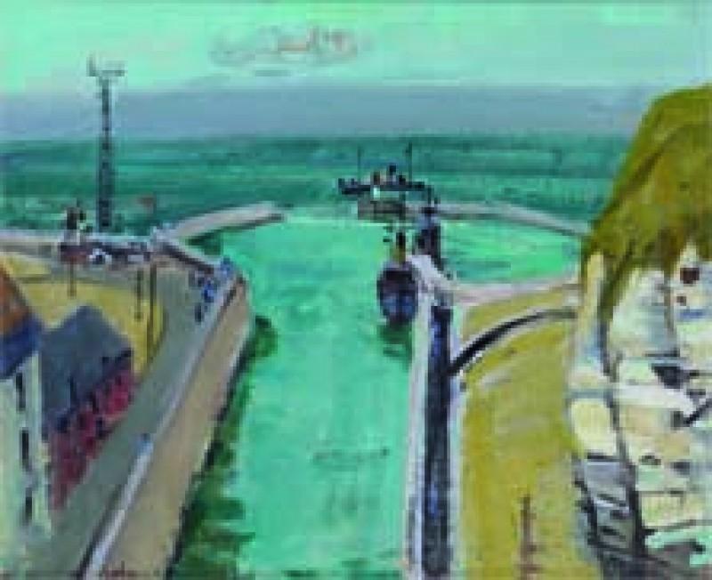 Hafeneinfahrt bei Dieppe, 1953