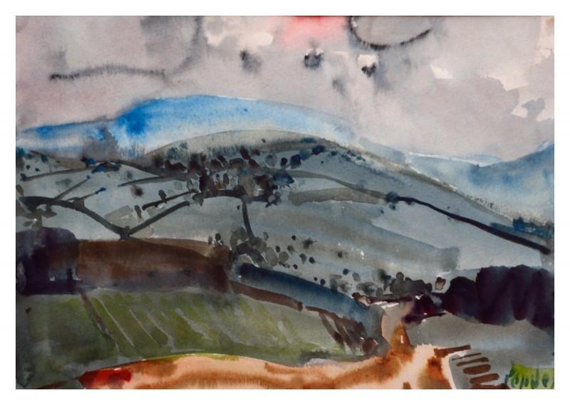 Hügelige Landschaft in der Toskana