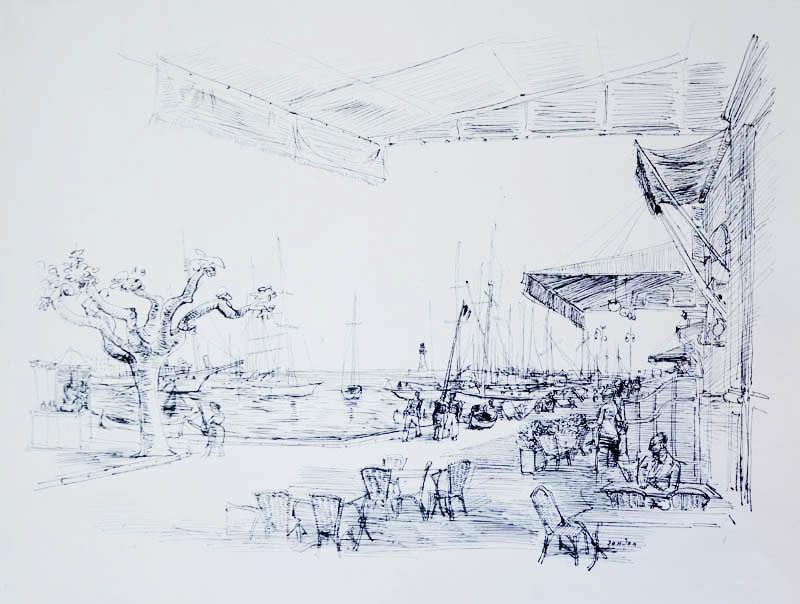Strandszene in Cannes