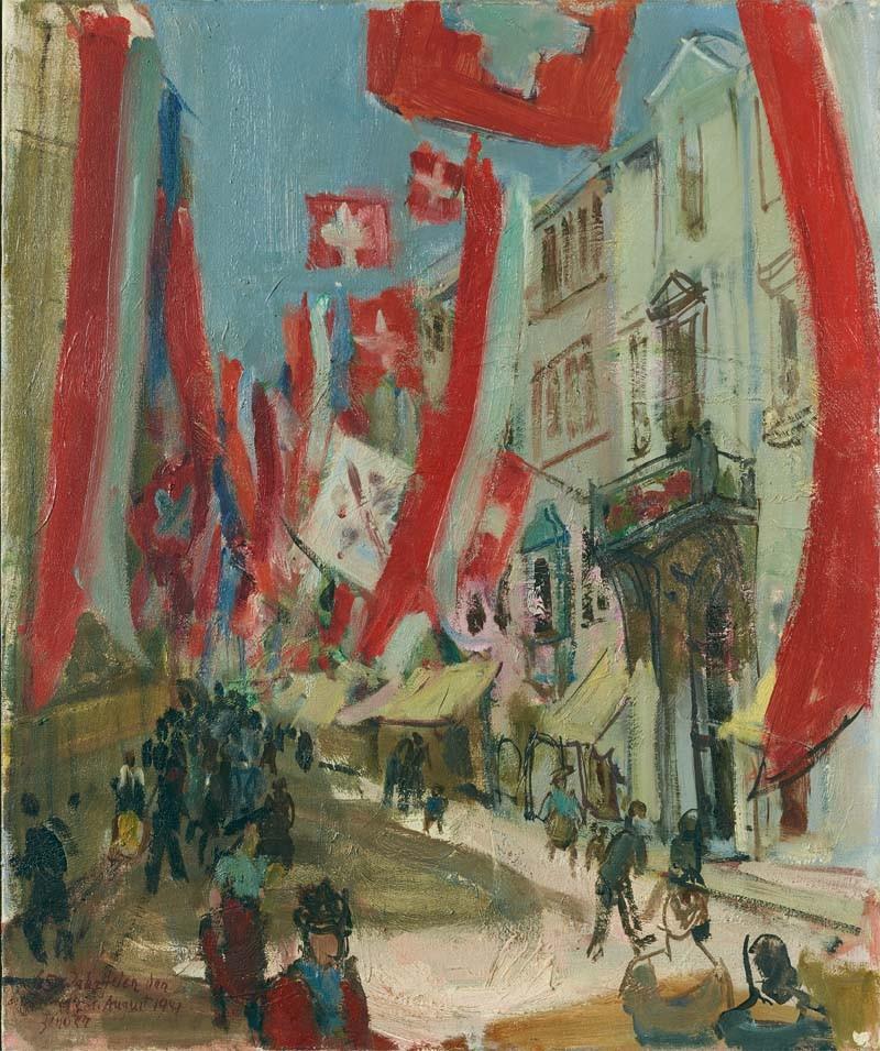 Winterthur beflaggt zur 650 Jahre Eidgenossenschaft, 1941