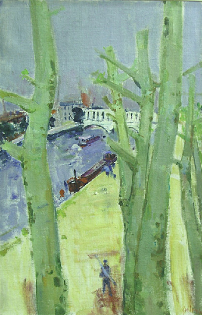 Seine-Landschaft mit Pont de Percey, 1964