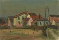 Banlieu mit Häuser, 1930er Jahre