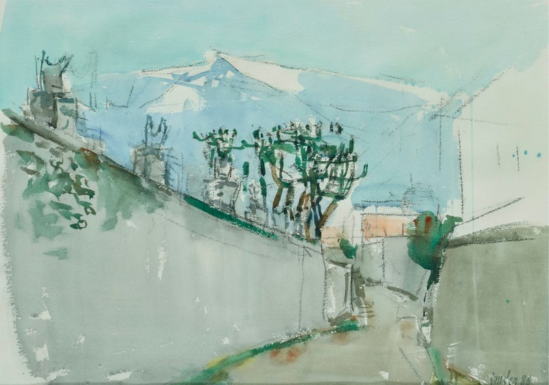 Die Mauern des Collegio II (Ascona), 1986