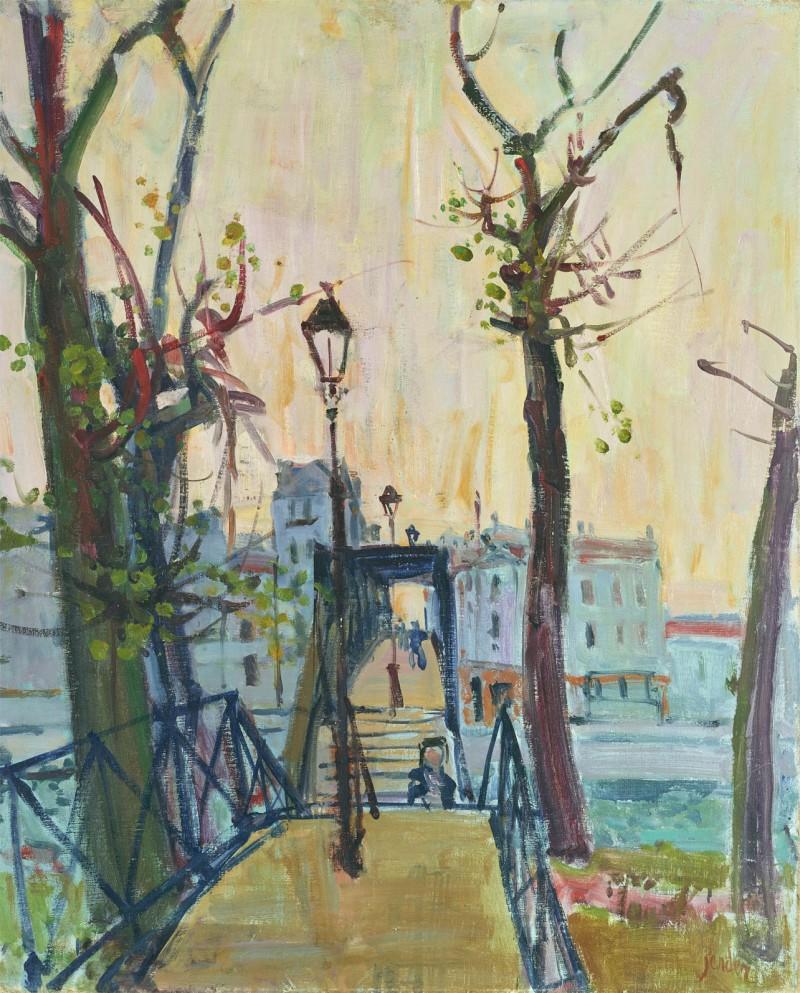 Passarelle in Paris, 1954