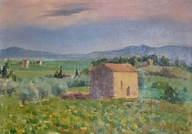 Landschaft in Südfrankreich, Gegend Bourg-St-Andéol, 1928