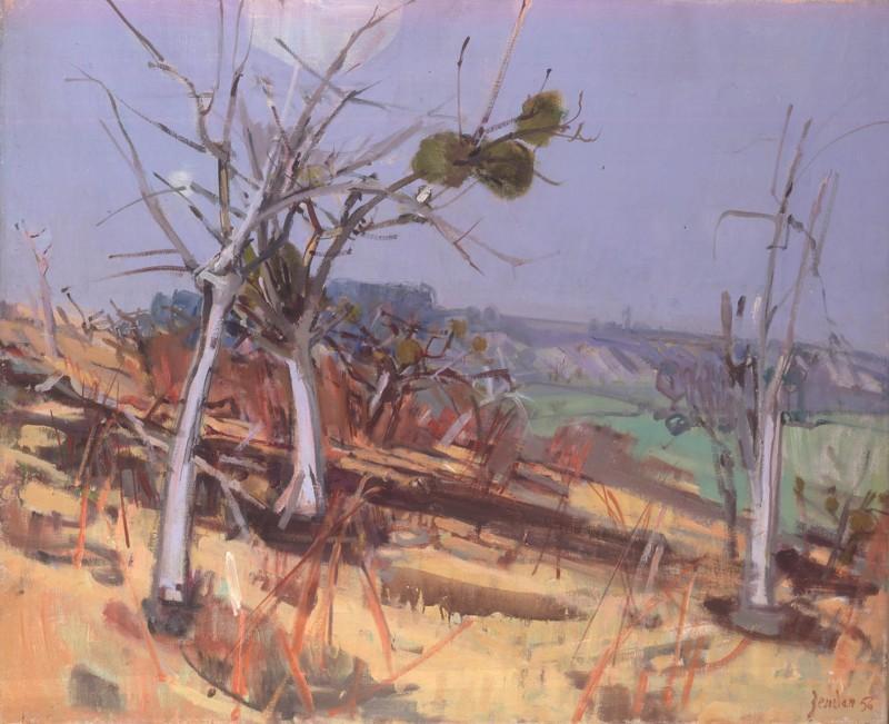 Les arbres brulés, 1956
