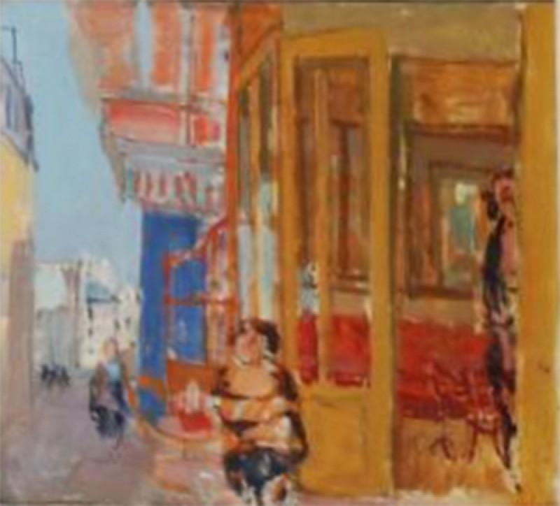 Café an einer Strassenecke in Paris, 1955