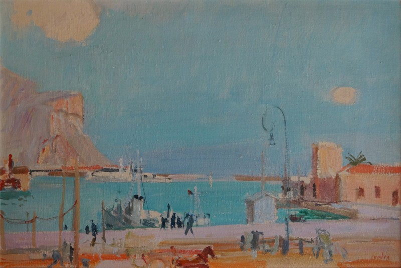 Hafen in Palermo, 1952.
